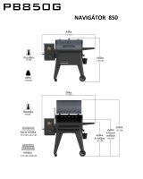 Gril na dřevěné pelety Navigator 850 Pit Boss / PB850G