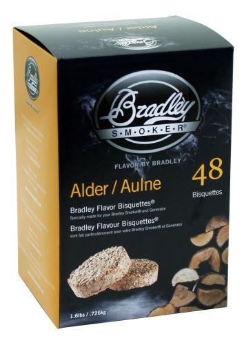 Olše 48 ks - Brikety udící Bradley Smoker