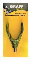 Gumová rohatinka - tvar U anti/camo   Graffishing