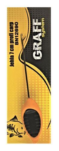 Jehla 7 cm profi carp oranžová   Graffishing