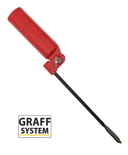 Držák prutu sklopný červený   Graffishing