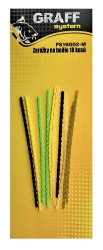 Zarážky na boilie 10 kusů mix barev   Graffishing