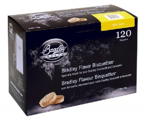 Olše 120 ks - Brikety udící  Bradley Smoker