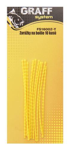 Zarážky na boilie 10 kusů žlutá   Graffishing