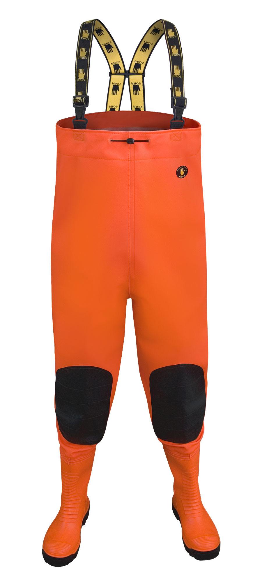 Brodící kalhoty MAX Fluo oranž vel.40    SBM01 Fluo or.  PROS