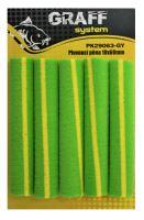 Plovoucí pěna 10mm x 60mm zeleno-žlutá   Graffishing
