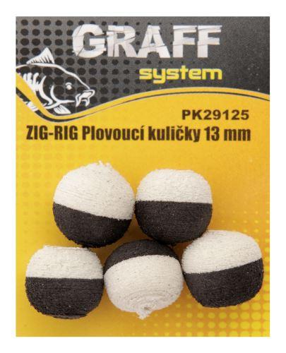 ZIG-RIG Plovoucí kuličky 13 mm černá-bílá   Graffishing