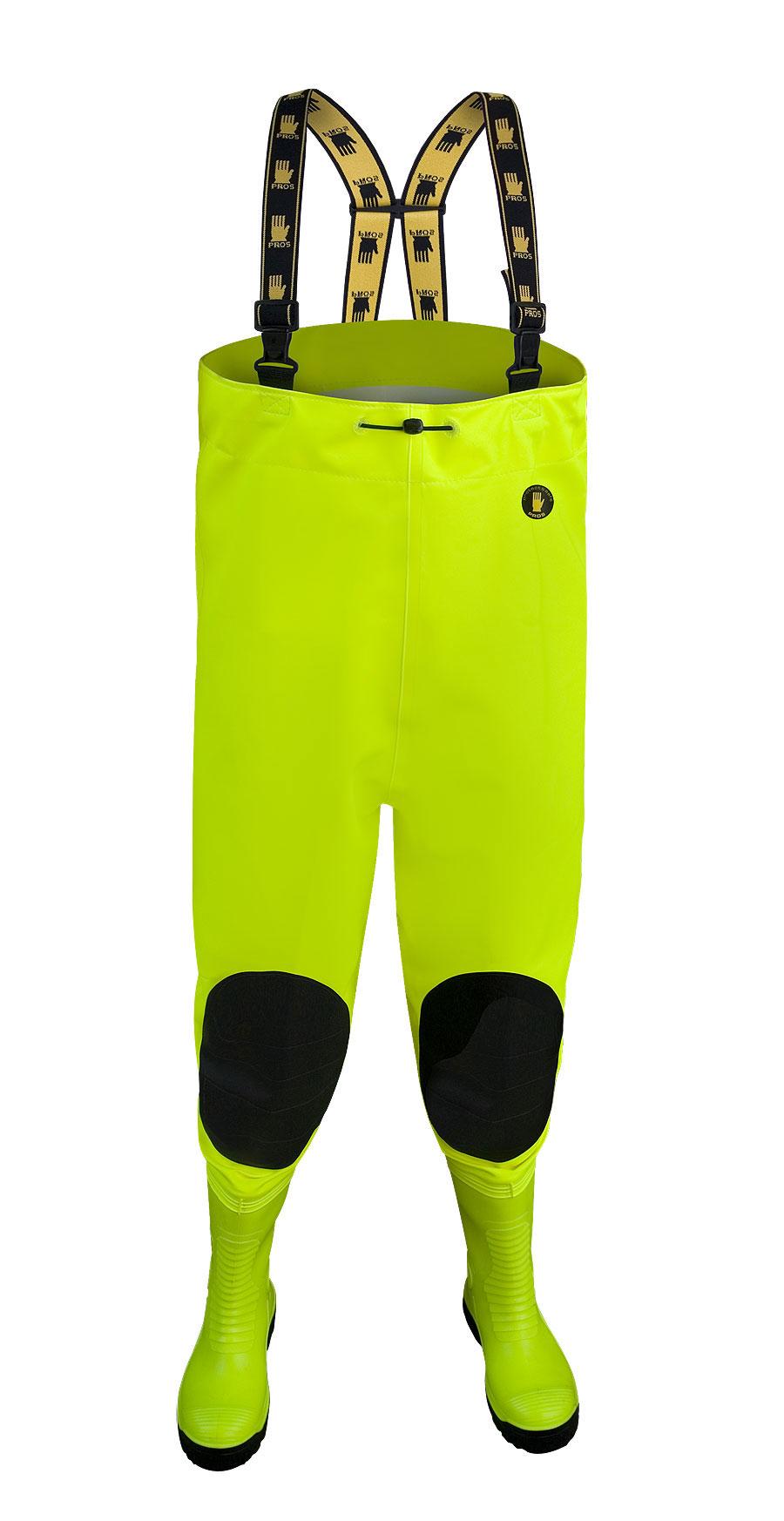 Brodící kalhoty MAX Fluo žluté vel.42    SBM01 Fluo žl.  PROS