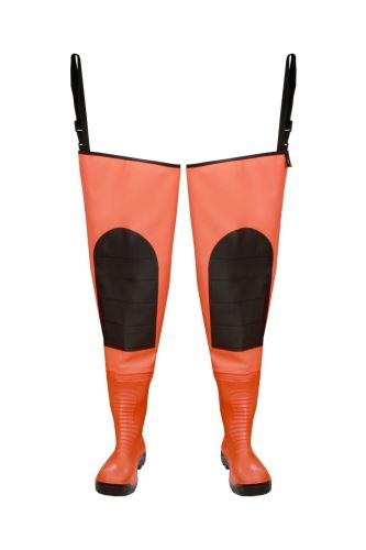 """Brodící boty stehenní """"MAX S5 Fluo"""" oranž - WRM02   PROS"""