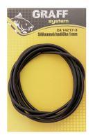 Silikonová hadička 1 mm černá   Graffishing